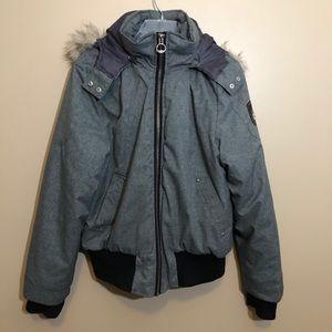 Oppenheimer Ski Jacket Coat Fur Hood Bomber